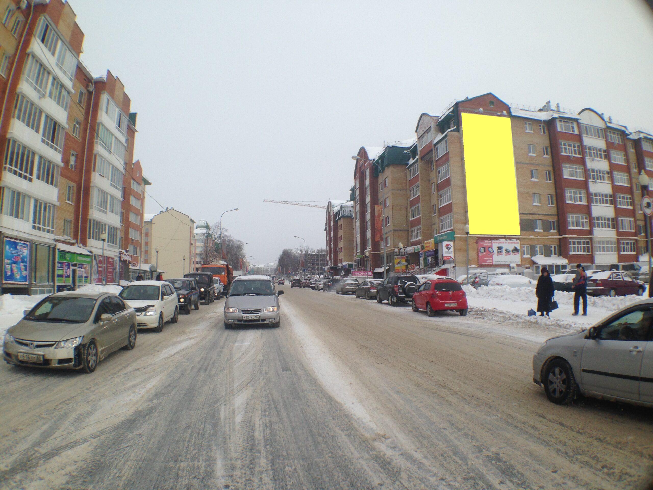 Размещение брандмауэров в городе Ханты-Мансийске